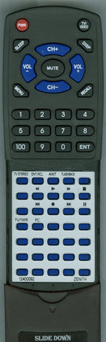 ZENITH 92400112 Replacement Remote