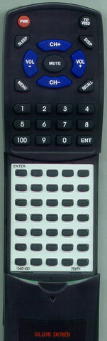 ZENITH 12414001 Replacement Remote
