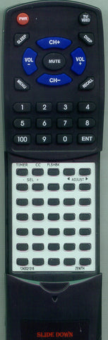 ZENITH 12421308 Replacement Remote