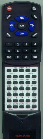 ZENITH 1240023104 Replacement Remote