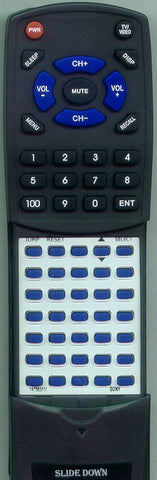 SONY KV20S41 Replacement Remote