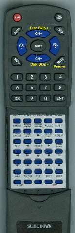 SONY DVPCX875P Replacement Remote