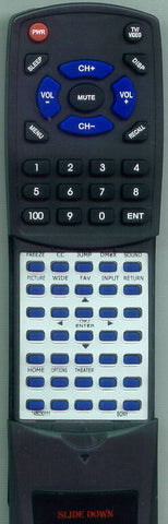 SONY KDL46W3000 Replacement Remote