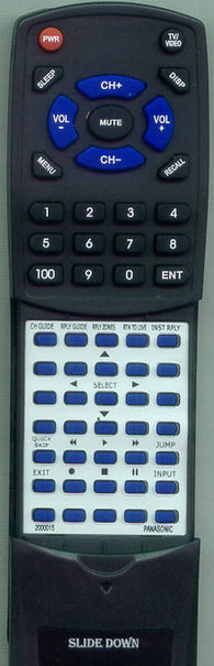 PANASONIC 2000015 Replacement Remote