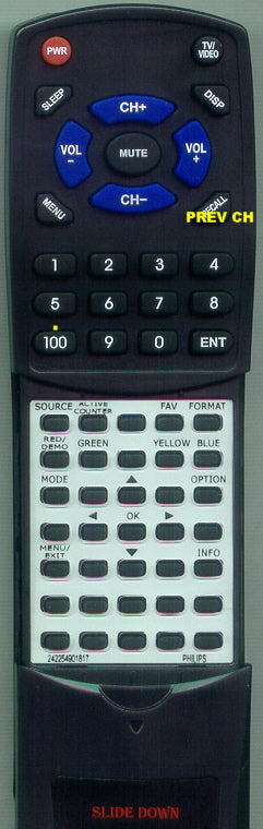 PHILIPS RT242254901817 Replacement Remote