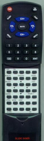 NEC 42MP2 Replacement Remote
