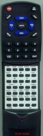 NEC PX61XM3A Replacement Remote