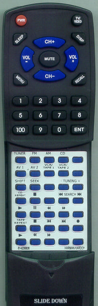HARMAN KARDON 614206806 Replacement Remote