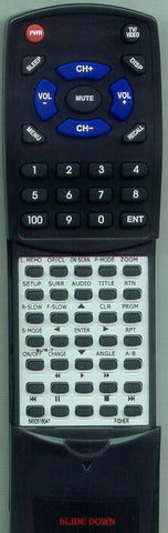 FISHER DVDSL30 Replacement Remote