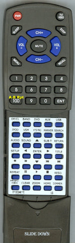 LG RT6710CDAK17C Replacement Remote