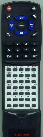 ZENITH 124-00156-05 Replacement Remote