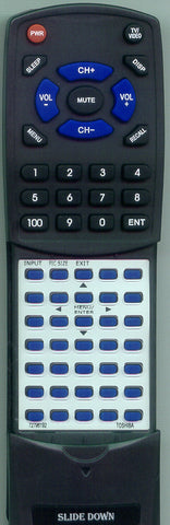 TOSHIBA 72781948 Replacement Remote