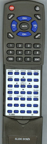3M MP7740I Replacement Remote