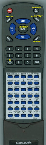 TOSHIBA SER0070 Replacement Remote