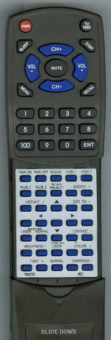NEC XM2950 Replacement Remote