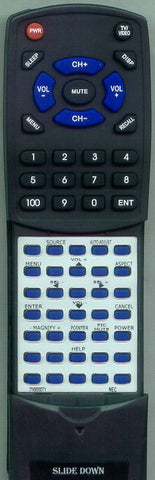 NEC RT7N900071 Replacement Remote