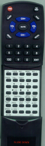 ZENITH TVBR1352Z Replacement Remote