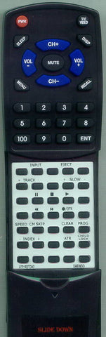 DAEWOO DVT3DN Replacement Remote
