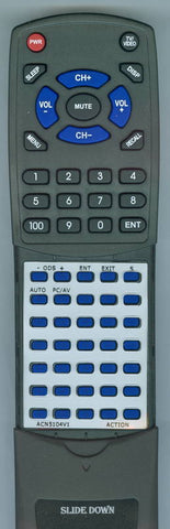 ACTION ACN5104V1 Replacement Remote