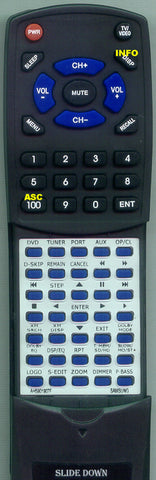 SAMSUNG HTZ510 Replacement Remote