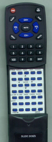 SAMSUNG HTSB1R Replacement Remote