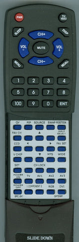 VIEWSONIC PLSRMC001 Replacement Remote
