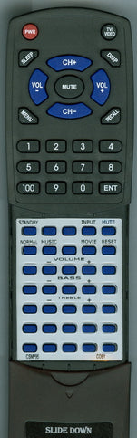 COBY RTCSMP95 Replacement Remote