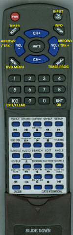 CURTIS INTERNATIONAL RTDRC8335 Replacement Remote
