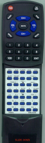 DIVINCI SOUND DV6030V2D7 Replacement Remote