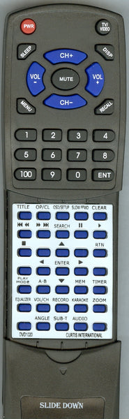 CURTIS INTERNATIONAL DVD1020 Replacement Remote