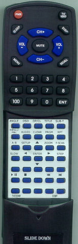 COBY RTDVD224M Replacement Remote