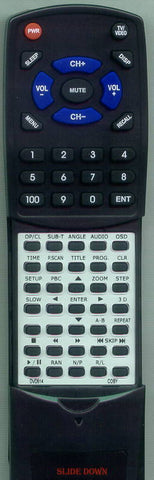 COBY DVD937V2 Replacement Remote