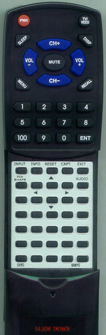 SANYO 1AV0U10B46600 Replacement Remote
