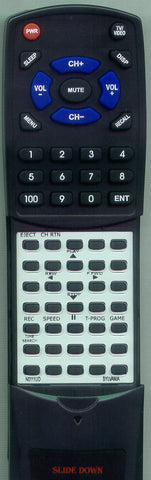SYLVANIA 6319CCB Replacement Remote