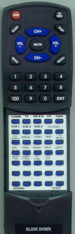 TECHNICS RAKSA608MH Replacement Remote
