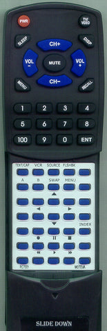 ZENITH SD2783P Replacement Remote