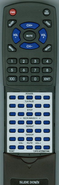 CURTIS INTERNATIONAL RTRCD637 Replacement Remote