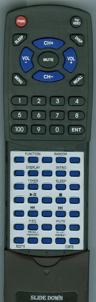 CURTIS INTERNATIONAL RTRCD718 Replacement Remote