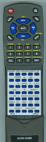 SHERWOOD NEWCASTLE R865 Replacement Remote