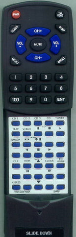 SHARP XLHP500 Replacement Remote