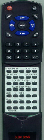 SHARP 20RV749 Replacement Remote