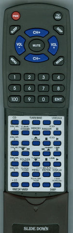 SHARP RRMCGA114AWSA Replacement Remote