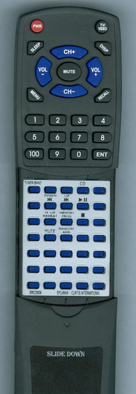 CURTIS INTERNATIONAL SRCD909 Replacement Remote