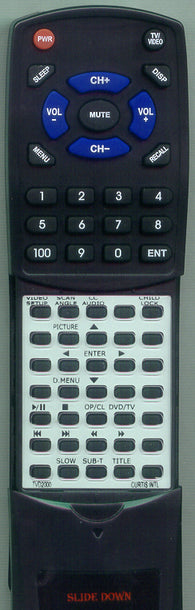 CURTIS INTERNATIONAL RTTVD2000 Replacement Remote