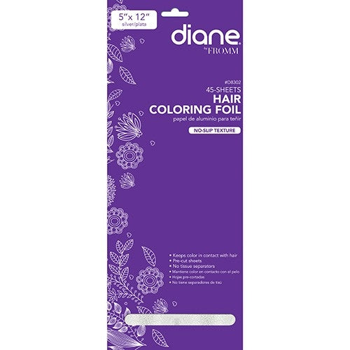 "Diane By Fromm Hair Coloring Foil 45-pk 5""x12"" Silver"