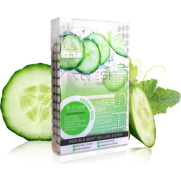 Voesh Pedi In A Box 4 IN 1- Vegan Spa Cucumber Fresh