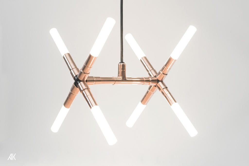 Double Cross Pendant Ceiling Light