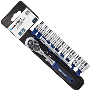 "Blaupunkt 1/4"" 13pc. Metric Socket Set - Extension Bar and Ratchet"