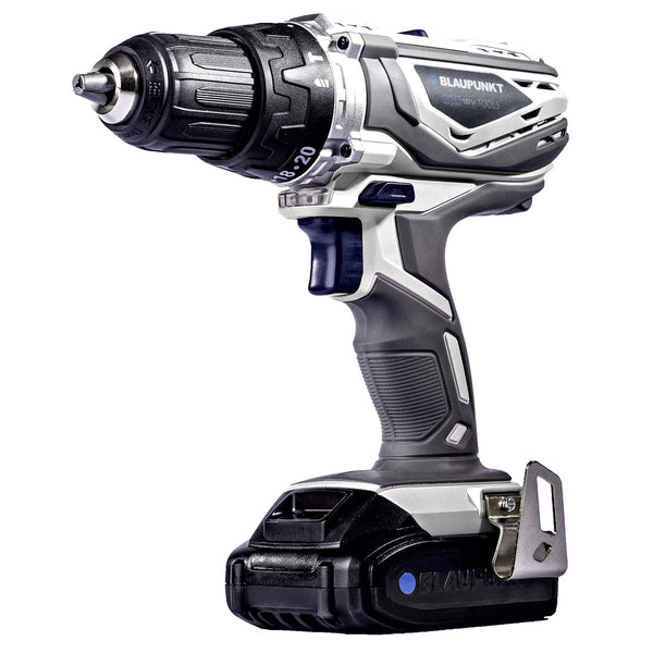 Blaupunkt Cordless Combi Drill BP6310C - Li-Ion 18V 2Ah Battery - 13mm Keyless Chuck - Drill, Hammer and Screwdriver Functions