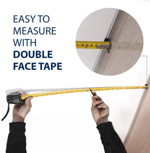 8m Tape Measure JT2500 - Double Sided Markings - Long Standout